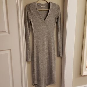 Wilfred Grey V-neck Dress